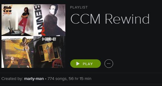 What I'm Listening To This Week: CCM Rewind (Spotify Playlist)